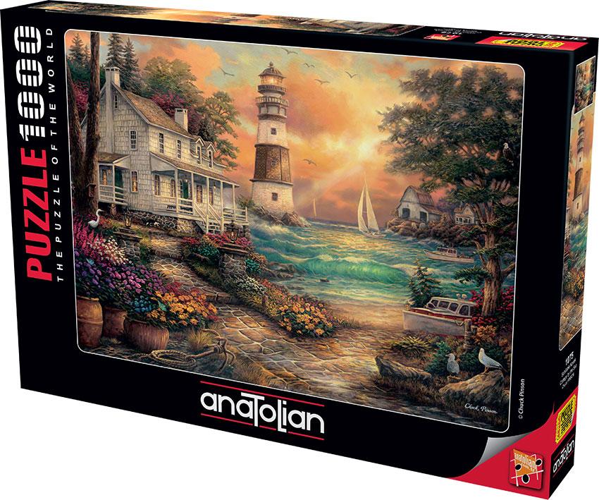 Puzzle Anatolian Casa Junto al Mar de 1000 Piezas