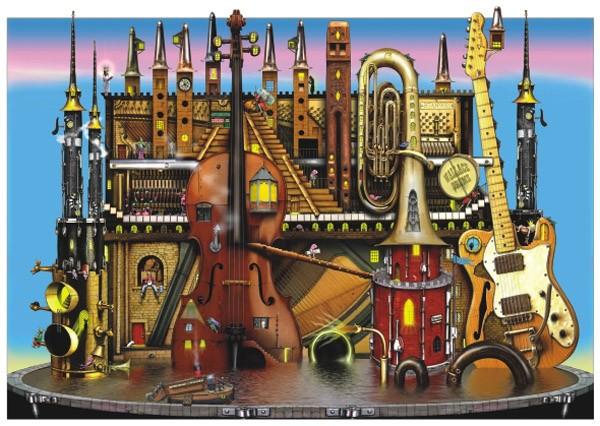 Puzzle Anatolian Castillo de Música de 1500 Piezas