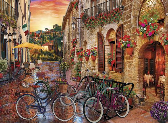 Puzzle Anatolian Bicicletas en la Toscana de 1000 Piezas