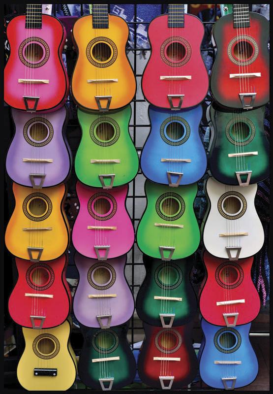Puzzle Anatolian Collage de Guitarras de 500 Piezas