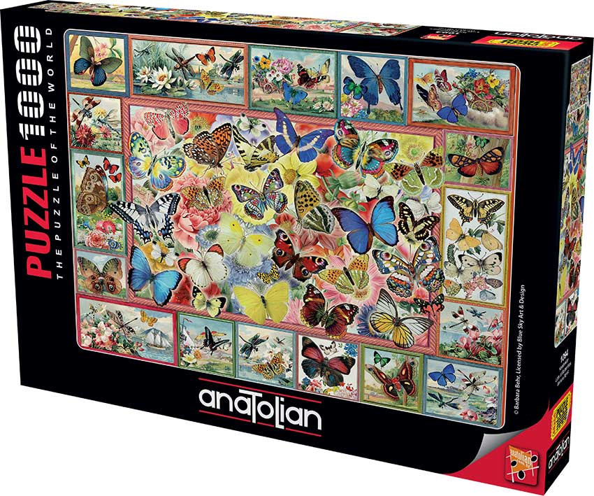 Puzzle Anatolian Collage de Mariposas de 1000 Piezas