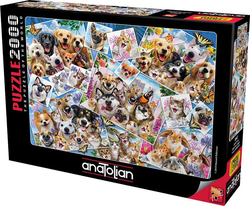 Puzzle Anatolian Collage de Selfies de Mascotas de 2000 Piezas