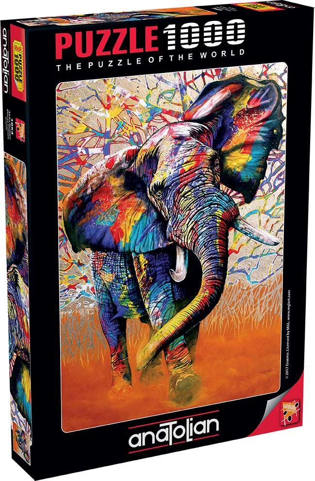 Puzzle Anatolian Colores Africanos de 1000 Piezas