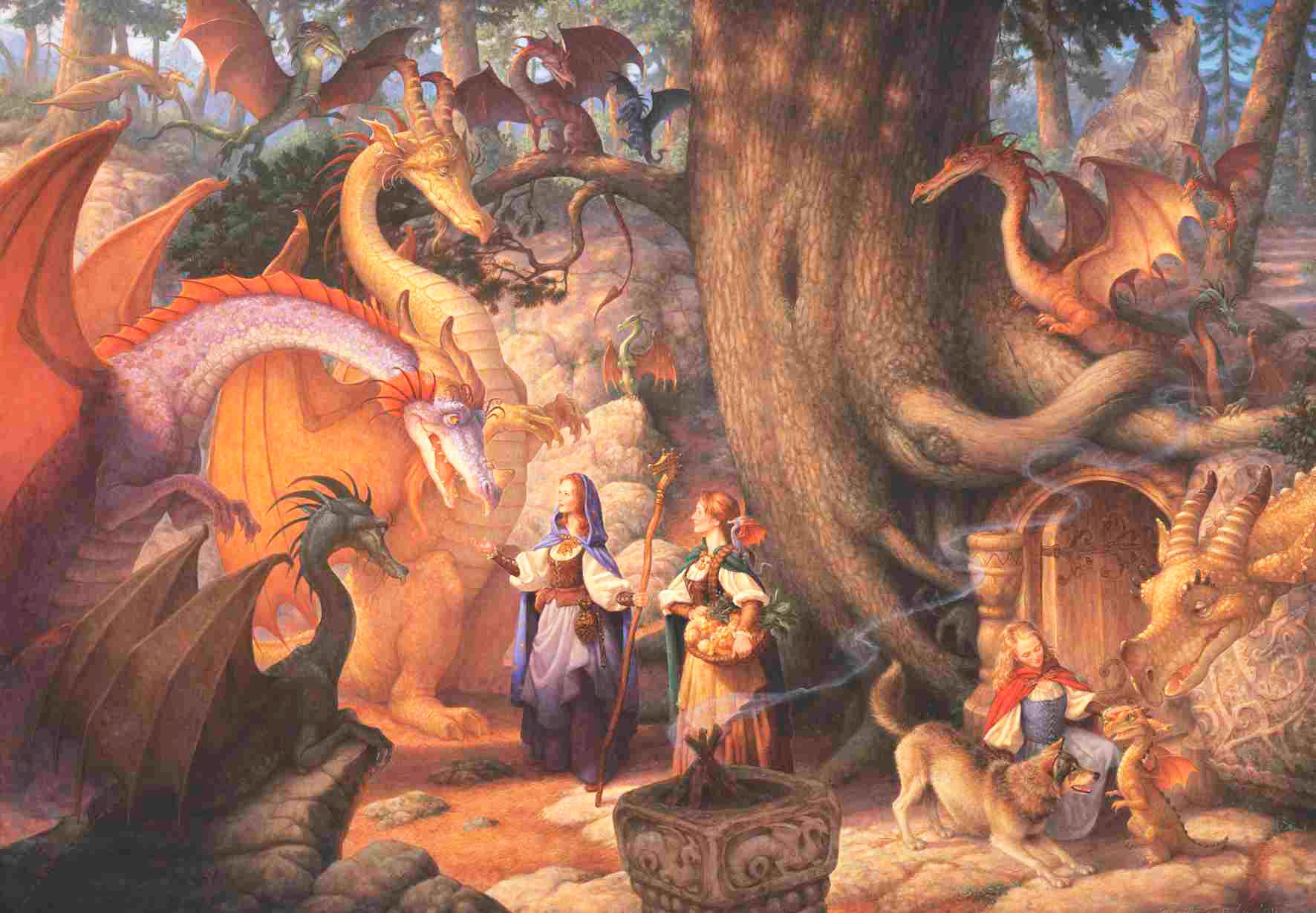 Puzzle Anatolian Confabulación de Dragones de 500 Piezas