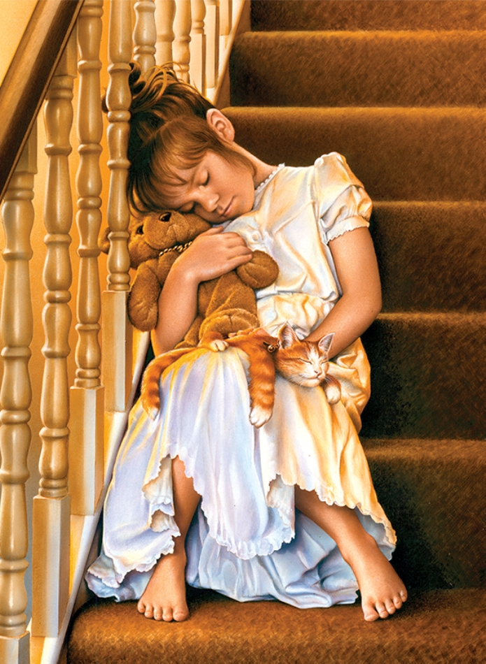 Puzzle Anatolian Durmiendo en la Escalera de 1000 Piezas