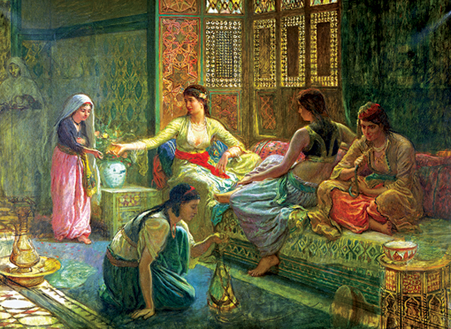Puzzle Anatolian El Interior del Harén de 1000 Piezas