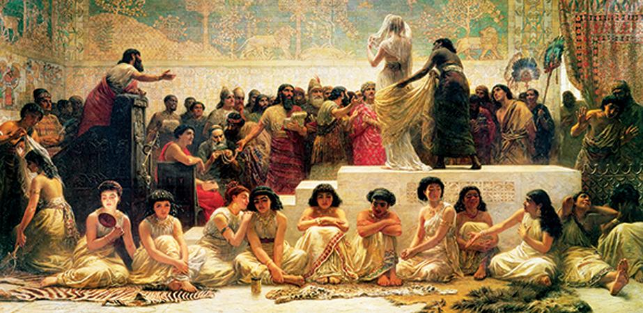 Puzzle Anatolian El Mercado Matrimonial Babilónico de 1500 Pieza