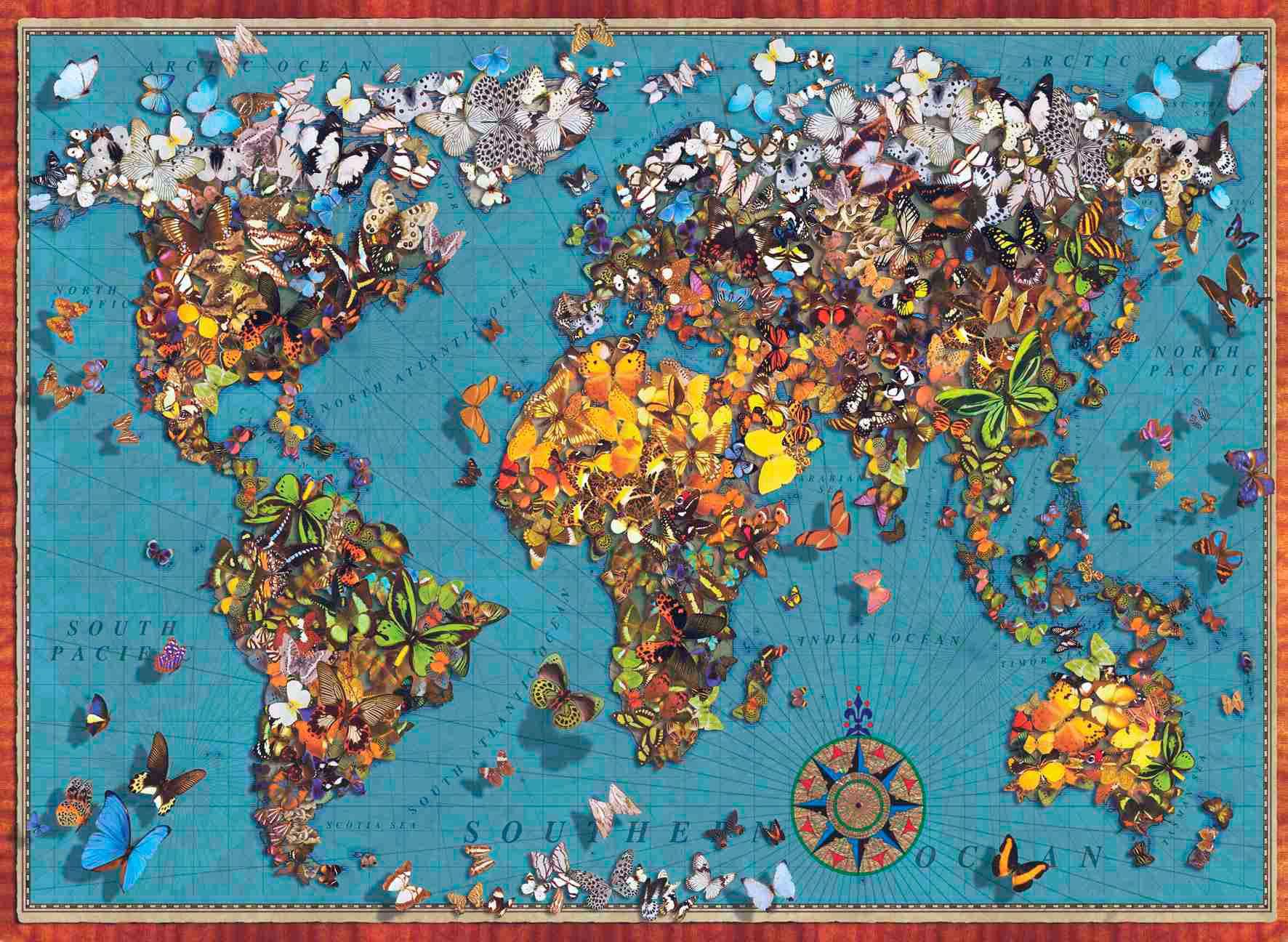 Puzzle Anatolian El Mundo de las Mariposas de 1000 Piezas