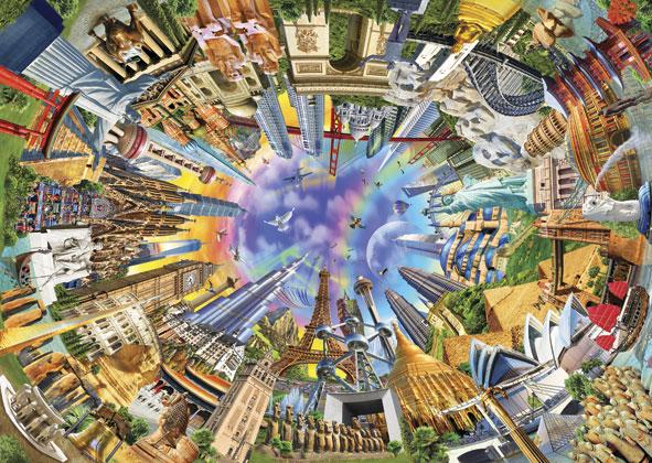 Puzzle Anatolian El Mundo en 360 Grados de 3000 Piezas