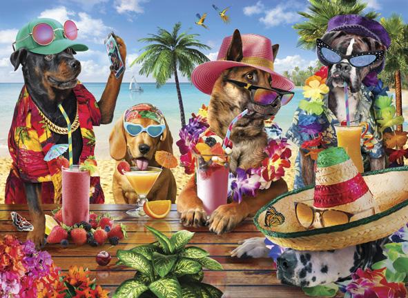 Puzzle Anatolian Fiesta de Perros en la Playa de 1000 Piezas