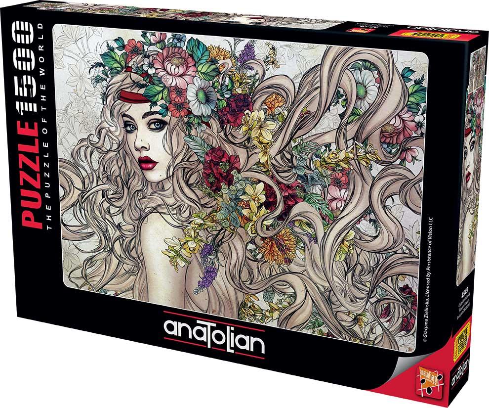 Puzzle Anatolian Flower Power de 1500 Piezas