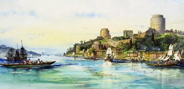 Puzzle Anatolian Fortaleza en el Rio Bósforo de 1500 Piezas
