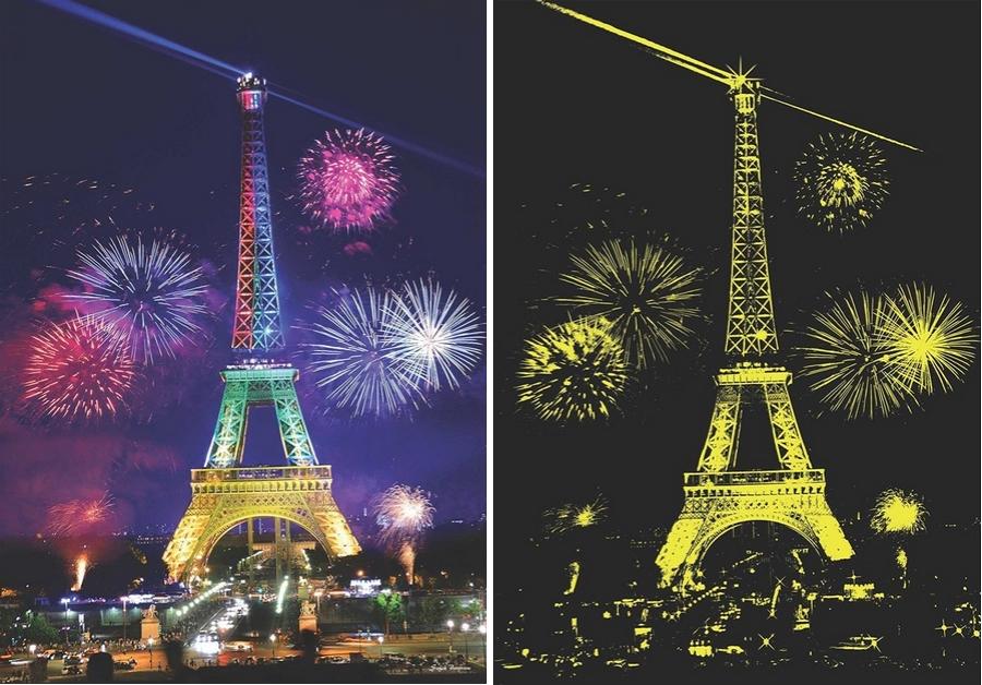 Puzzle Anatolian Fuegos Artificiales en París Neón de 1000 Pieza