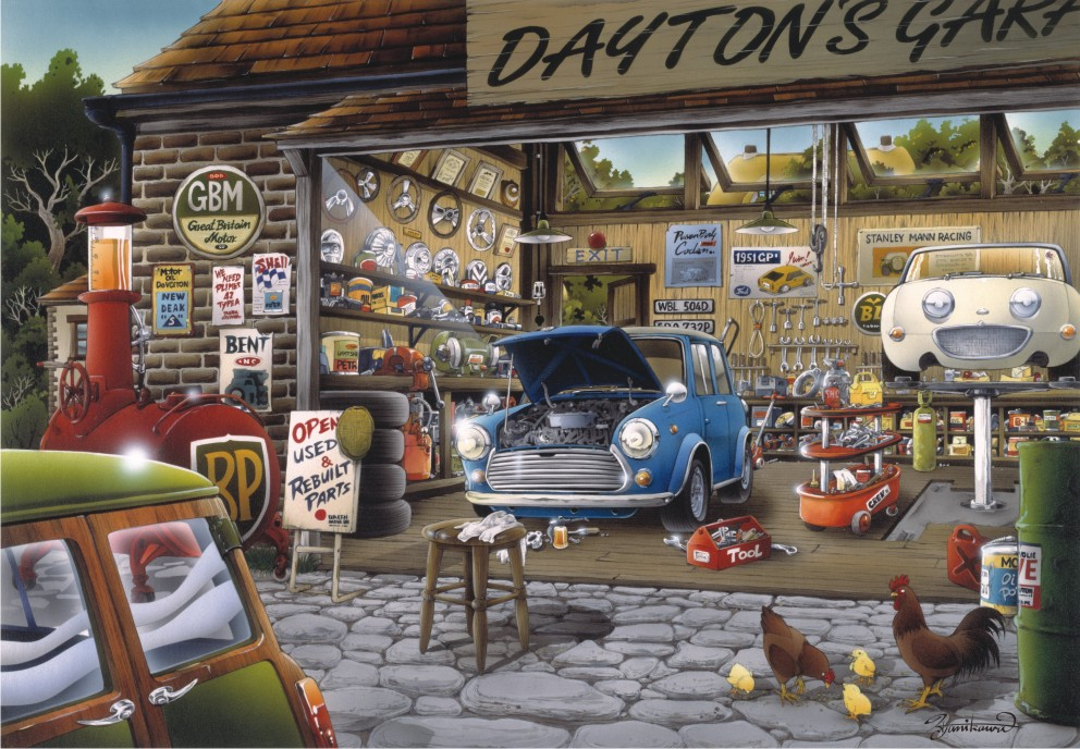 Puzzle Anatolian Garage Daytona de 500 Piezas