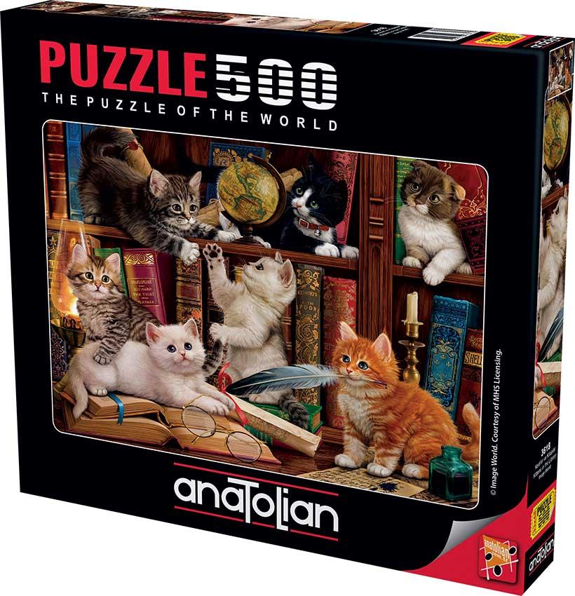 Puzzle Anatolian Gatitos en la Estantería de 500 Piezas