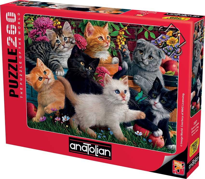 Puzzle Anatolian Gatitos Jugando de 260 Piezas