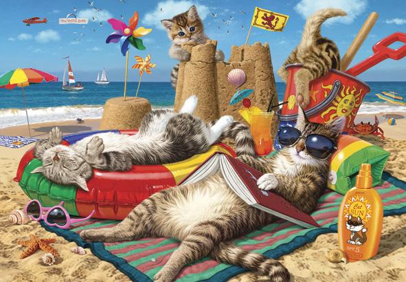 Puzzle Anatolian Gatos en la Playa de 260 Piezas