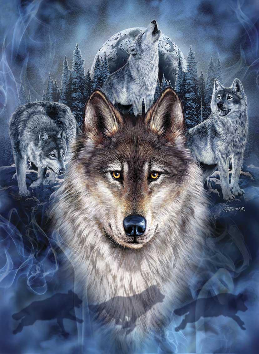Puzzle Anatolian Grupo de Lobos de 1000 Piezas