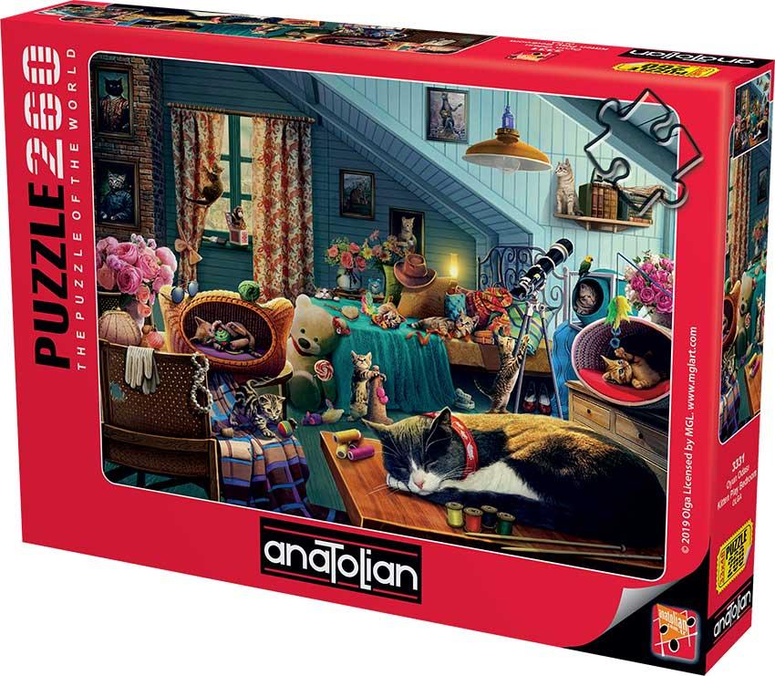 Puzzle Anatolian Habitación de Juegos de Gatos de 260 Piezas