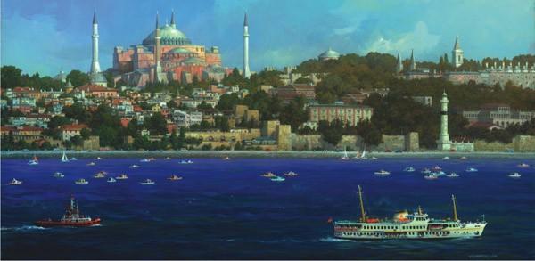 Puzzle Anatolian Hagia Sofía, Estambul Panorama de 1500 Piezas