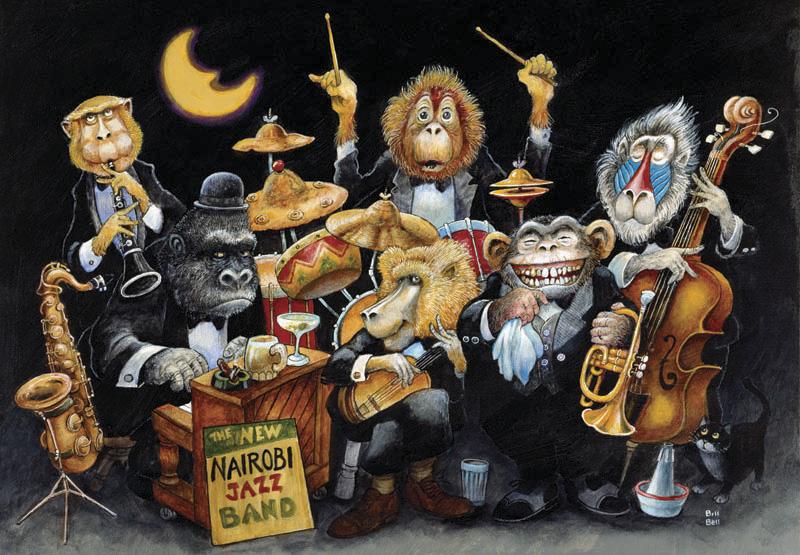Puzzle Anatolian La Banda de Jazz de 500 Piezas