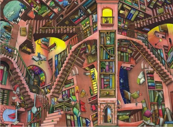 Puzzle Anatolian La Librería de 1000 Piezas