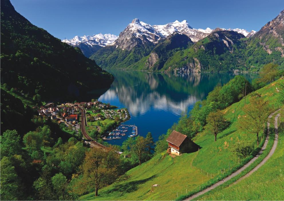 Puzzle Anatolian Lago Lucerne, Suiza de 1500 Piezas