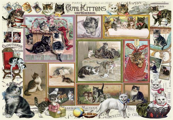 Puzzle Anatolian Lindos Gatitos y Perros Cómicos 2 x 500 Piezas