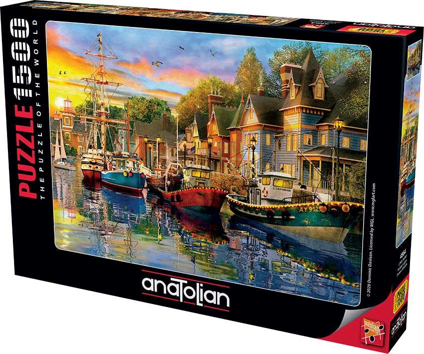 Puzzle Anatolian Las Luces del Puerto de 1500 Piezas