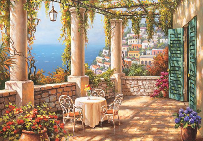 Puzzle Anatolian Mañana en la Terraza de 260 Piezas