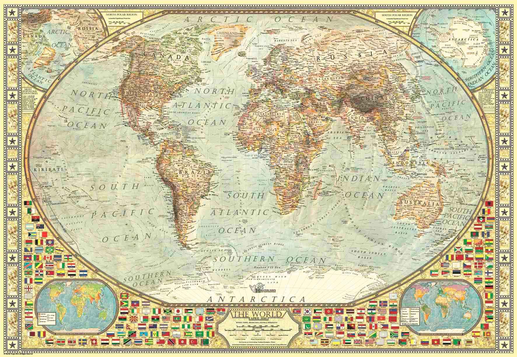 Puzzle Anatolian Mapamundi, Mapa del Mundo de 2000 Piezas