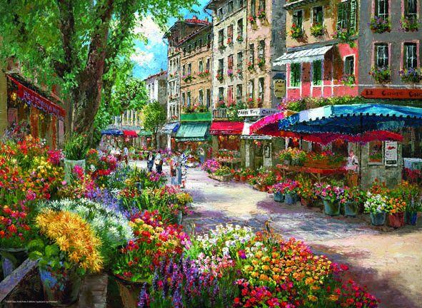 Puzzle Anatolian Mercado de las Flores, Paris de 1000 Piezas