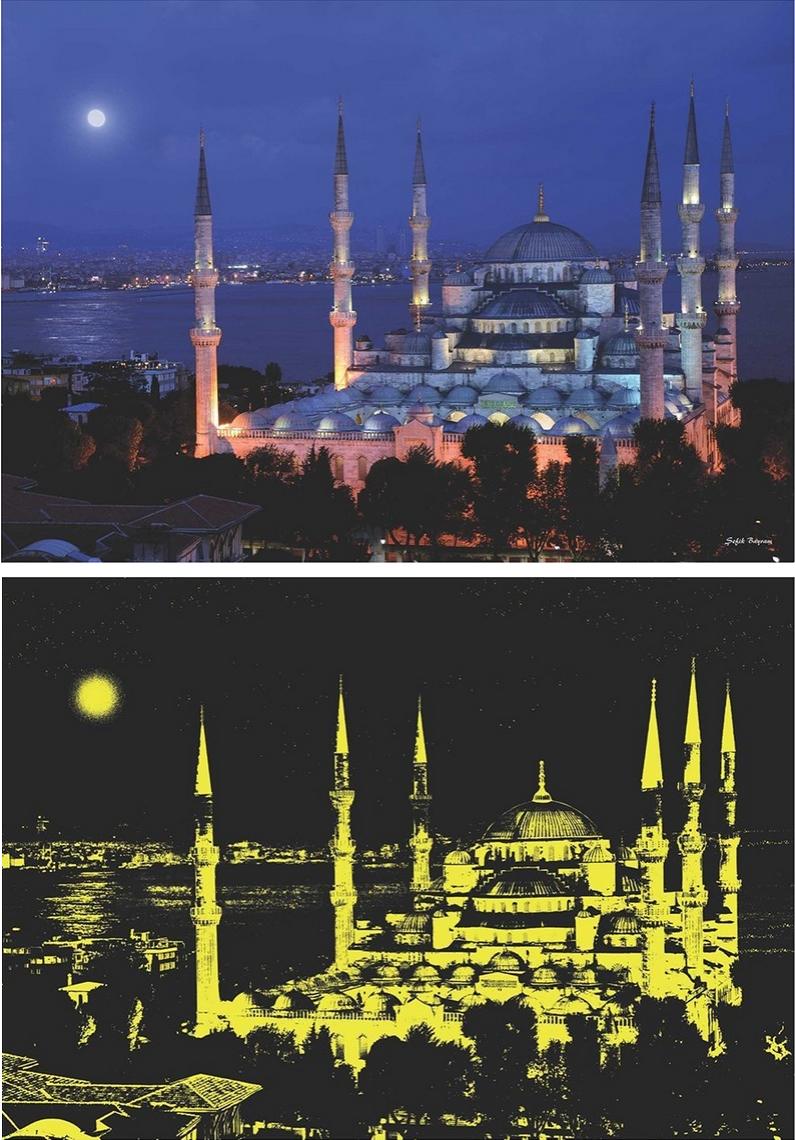 Puzzle Anatolian Mezquita Azul, Estambul, Turquía de 1000 Piezas
