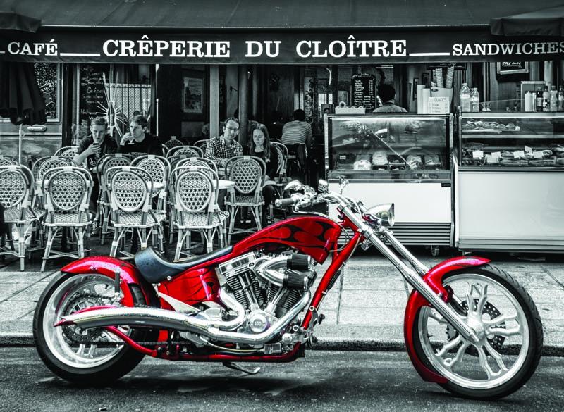 Puzzle Anatolian Moto Chopper Roja de 1000 Piezas