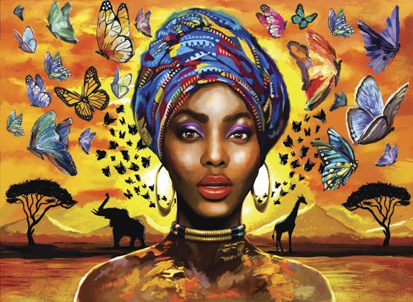 Puzzle Anatolian Mujer Africana de 1000 Piezas
