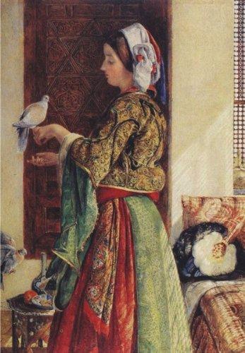 Puzzle Anatolian Mujer con dos Palomas de 500 Piezas