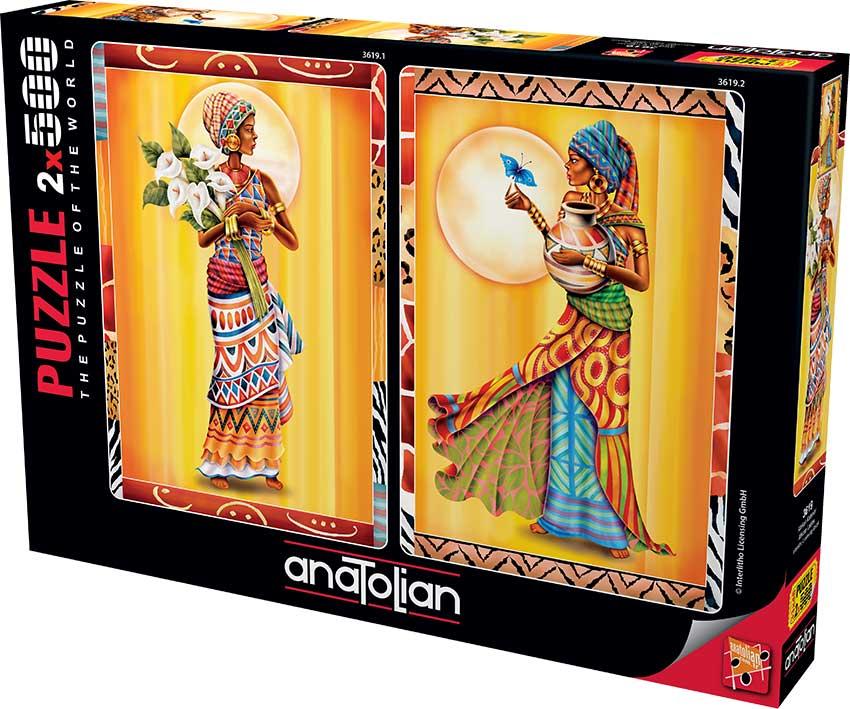 Puzzle Anatolian Mujeres Africanas de 2 x 500 Piezas