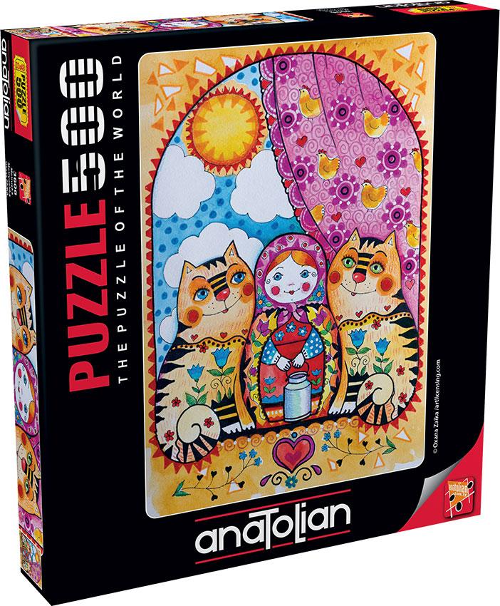 Puzzle Anatolian Muñeca Matrioska de 500 Piezas