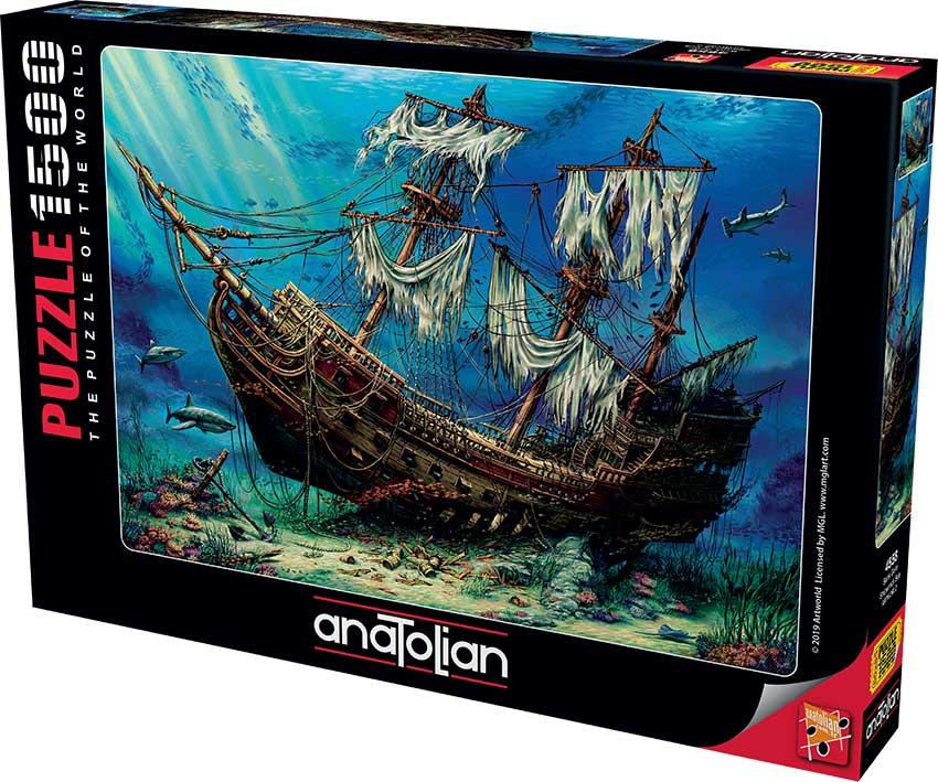 Puzzle Anatolian Naufragio en el Mar de 1500 Piezas