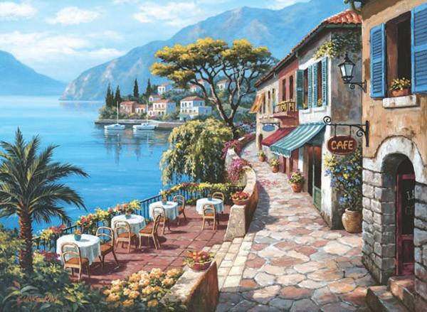 Puzzle Anatolian Overlook Cafe II de 1000 Piezas