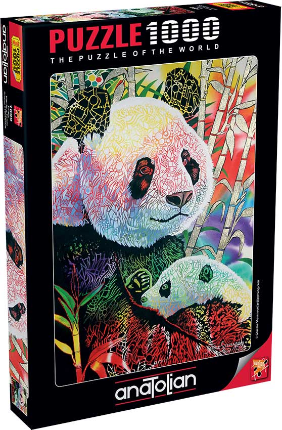Puzzle Anatolian Panda de Arcoiris de 1000 Piezas