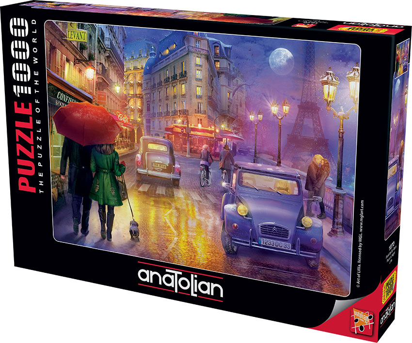 Puzzle Anatolian Paseo Nocturno por París de 1000 Piezas