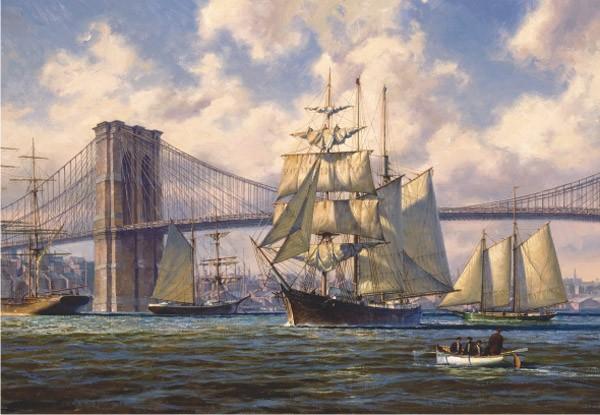 Puzzle Anatolian Paso de Barcos en el Puente de Brooklyn de 2000