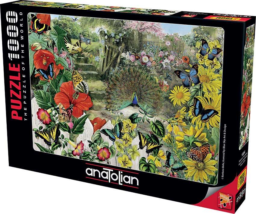 Puzzle Anatolian Pavo en el Jardín de 1000 Piezas