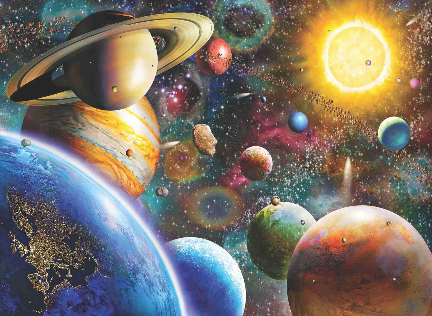 Puzzle Anatolian Planetas del Sistema Solar de 1000 Piezas