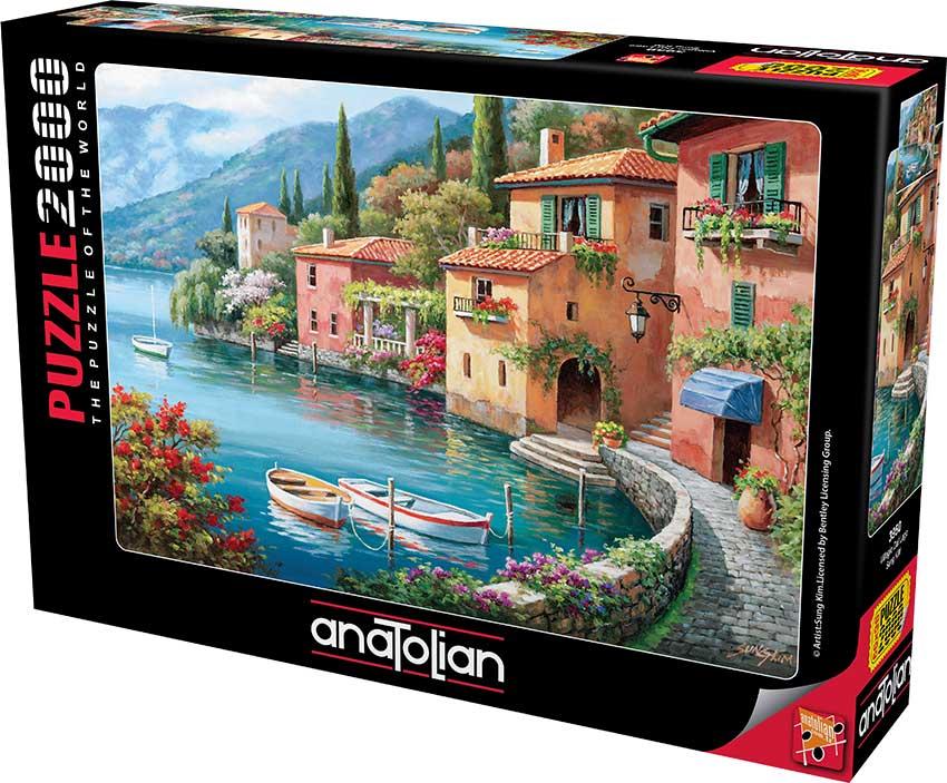 Puzzle Anatolian Pueblo a la Orilla del Lago de 2000 Piezas