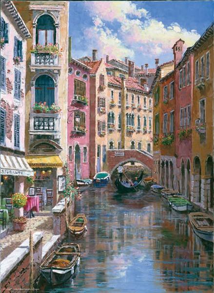 Puzzle Anatolian Puente Longo, Venecia de 1000 Piezas