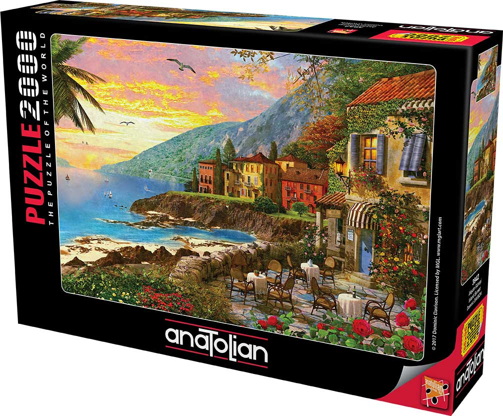 Puzzle Anatolian Puesta de Sol en la Isla de 2000 Piezas