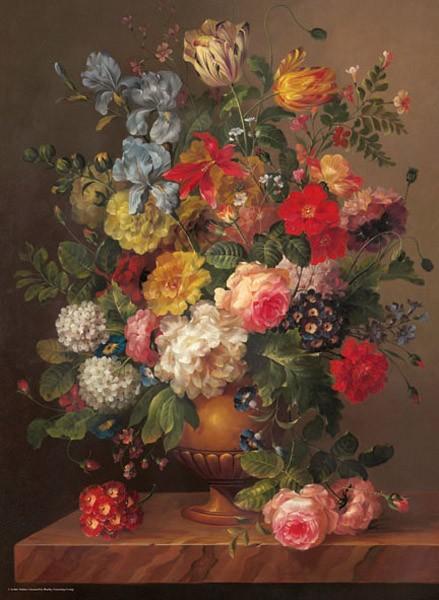 Puzzle Anatolian Ramo de Flores Clásicas de 1000 Piezas