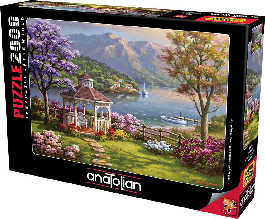 Puzzle Anatolian Retiro en el Lago de Cristal de 2000 Piezas